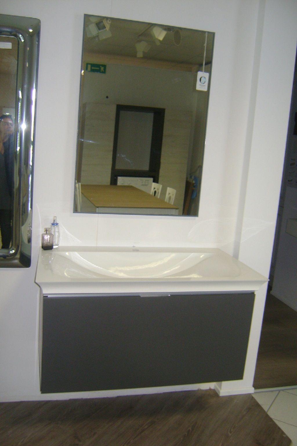 Mobile bagno laccato grigio opaco arcom arredamenti for Arredamenti ravenna